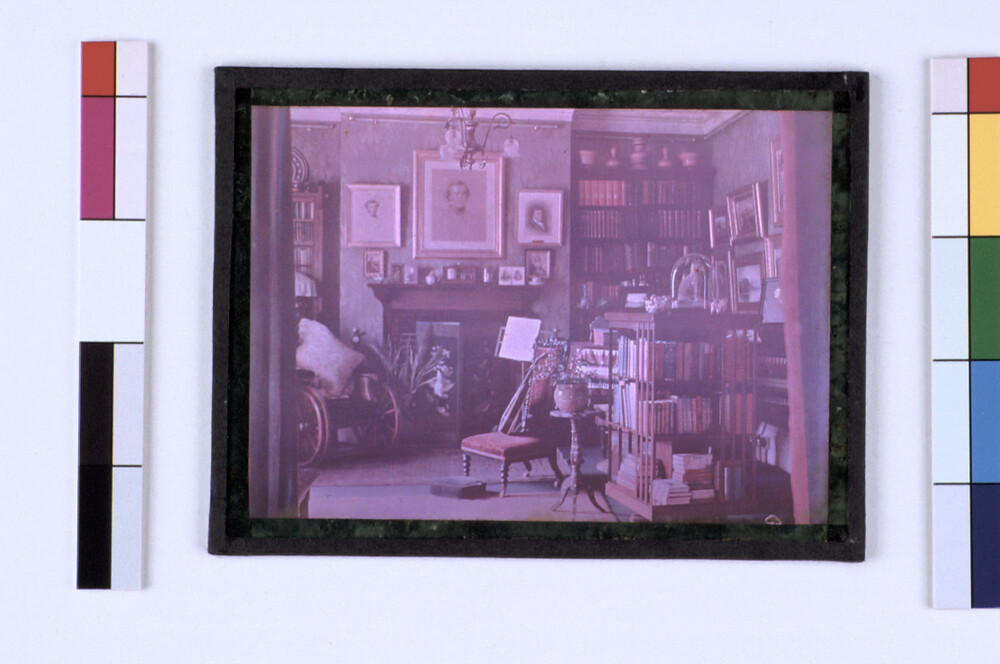 preview image for Colour Photograph (Omnicolore) of an Interior of her House at Park Town, Oxford, by Sarah Angelina Acland, c.1910