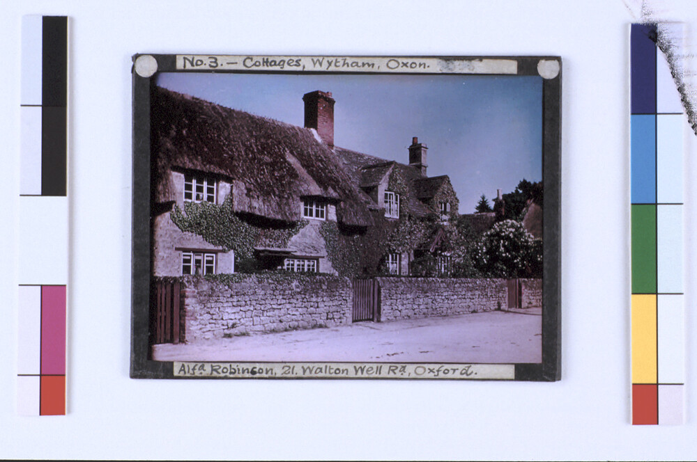 preview image for Colour Photograph (Paget Process) of Cottages at Wytham, near Oxford, by Alfred Robinson, Early 20th Century