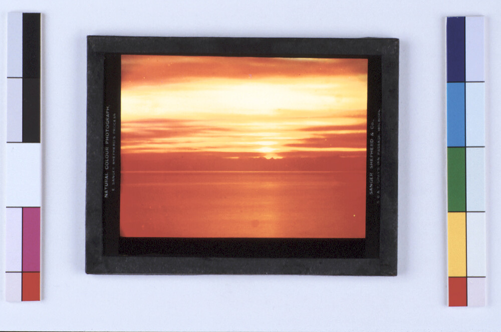 preview image for Sanger Shepherd Photographic Plate of a Sunset