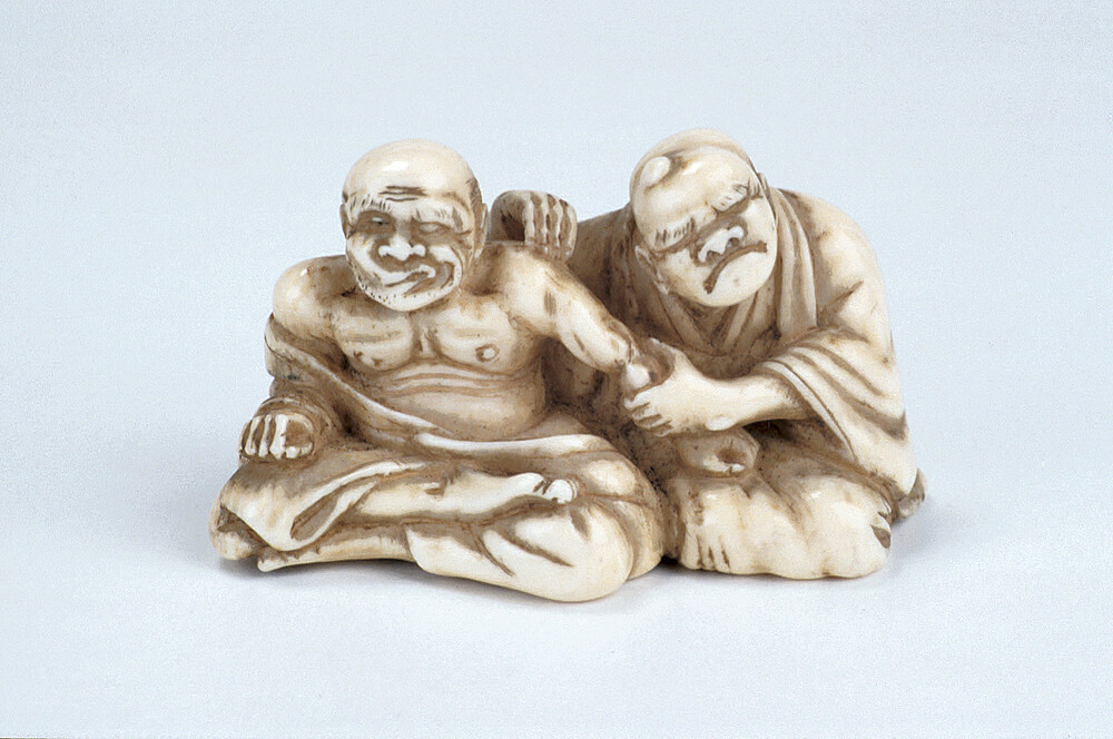 preview image for Netsuke of Patient Undergoing Massage, by Yoshikazu, Japan, Mid 19th Century