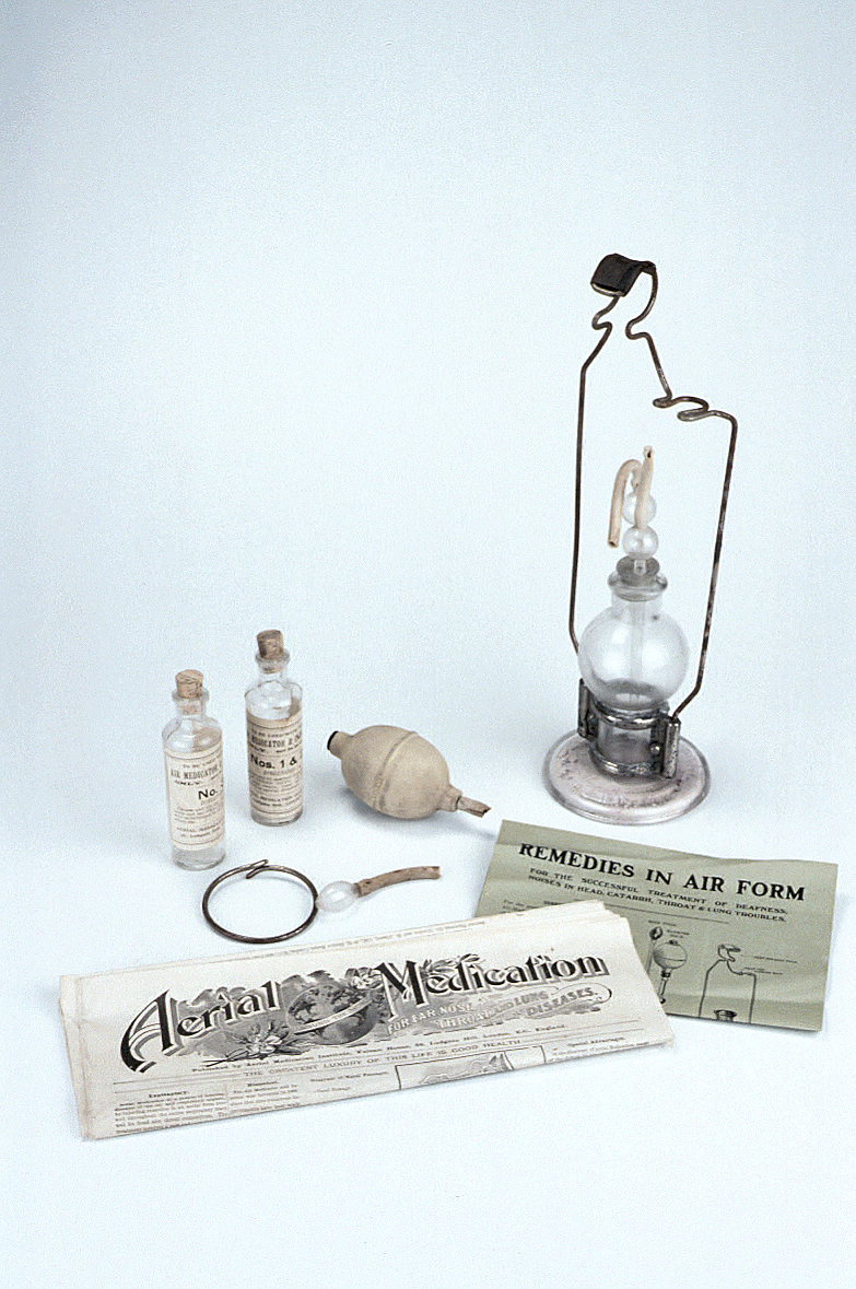 preview image for Air Medicator With Accessories and Instructions, by Aerial Medication Institute, Late 19th Century