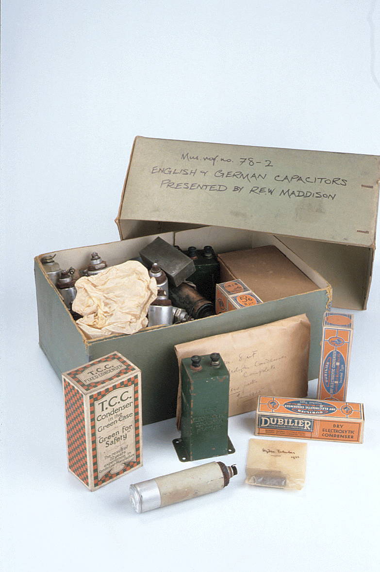 preview image for Box Of Capacitors, English and Germany, 1930s