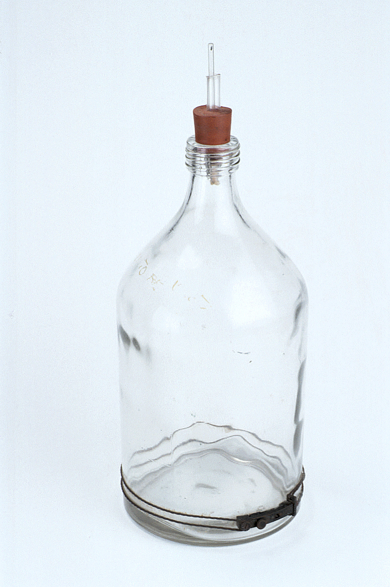 preview image for Glass Bottle Used as Separation Funnel for Penicillin Extraction