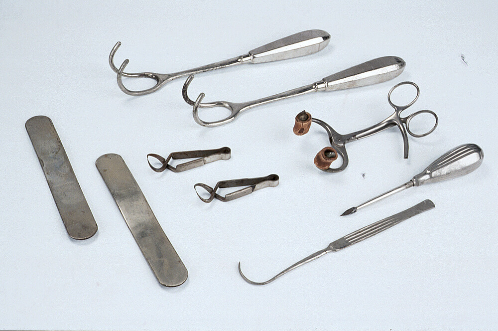 preview image for Two Hooked Retractors from Set of Gynaecological Instruments