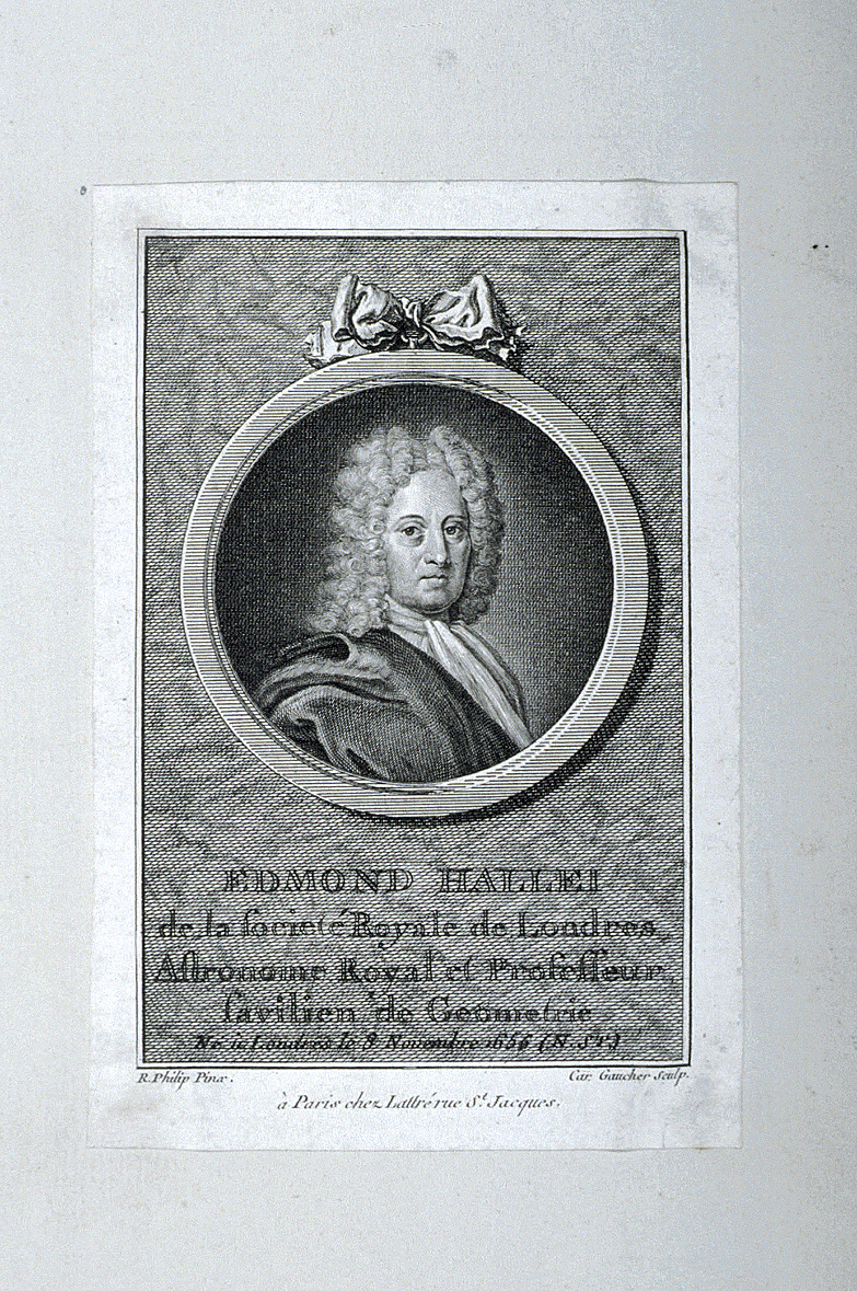 preview image for Print (Etching and Engraving) of Edmond Halley, by Gaucher after R.Philip, Paris, Late 18th - Early 19th Century.