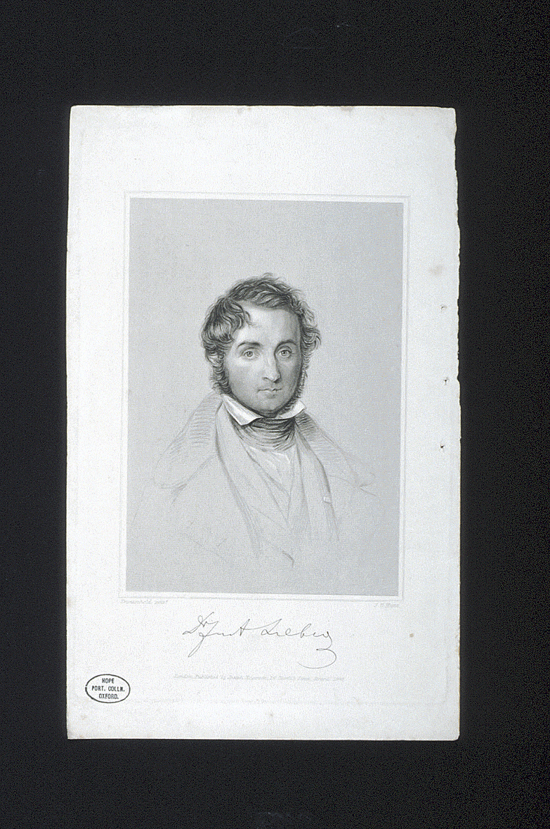 preview image for Print (Lithograph) of Justus von Liebig, by J.B.Hunt after Trantschold, London, 1845.