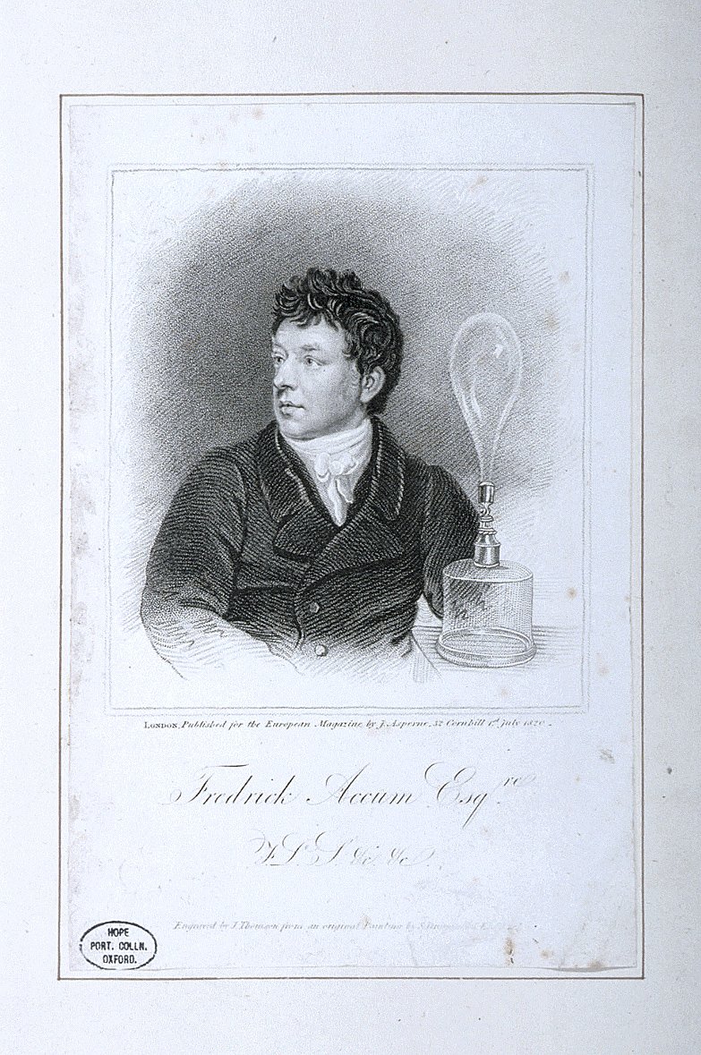 preview image for Print (Engraving) of Fredrick Accum, by J. Thomson from a painting by S. Drummond, London, 1820