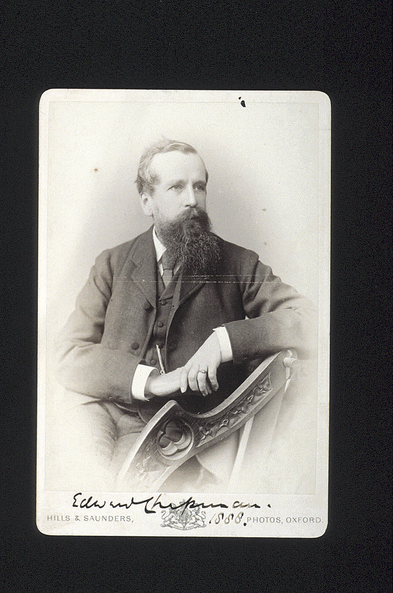 preview image for Photograph (Albumen Print, Cabinet Format) of Edward Chapman, by Hills & Saunders, Oxford, 1888