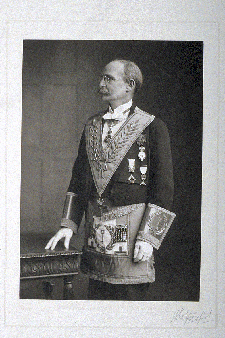 preview image for Photograph (Carbon Print) of Lewis Evans in Masonic Costume and Regalia, by William Coles, Watford, 1900s
