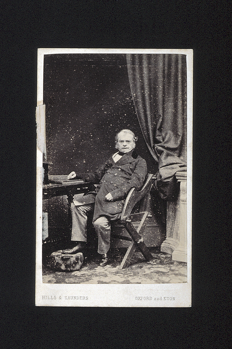 preview image for Photograph (Albumen Print, Carte de Visite) of Charles Daubeny, with a Footstool, by Hills & Saunders, Oxford, c.1860