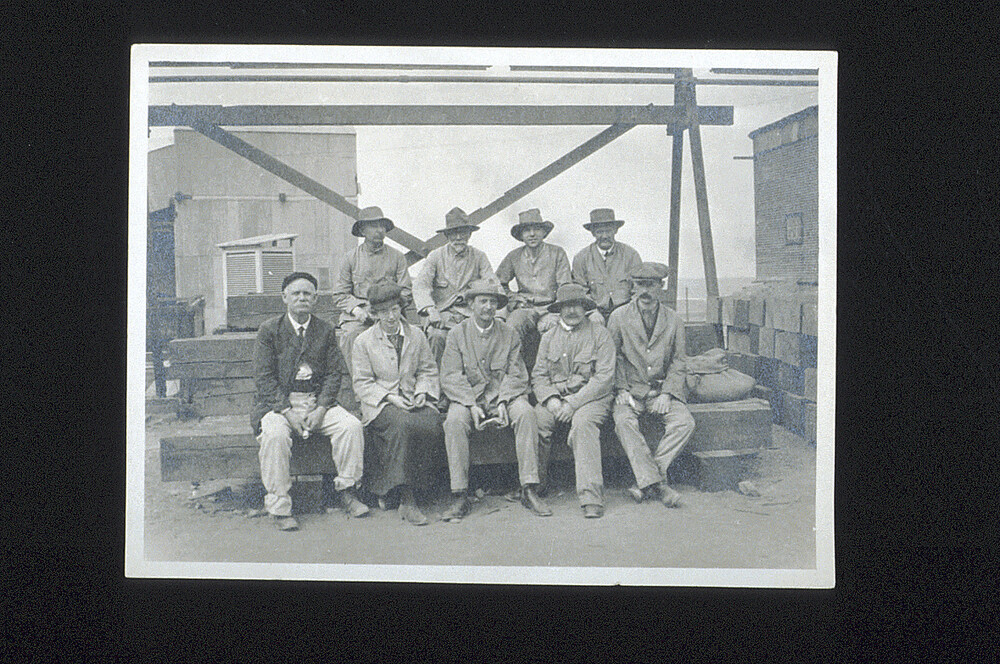 preview image for Photograph (Gelatine Print) of a Group of Scientists and Others Visiting a Mine at Broken Hill, New South Wales, Including and Probably by N. V. Sidgwick, 1914