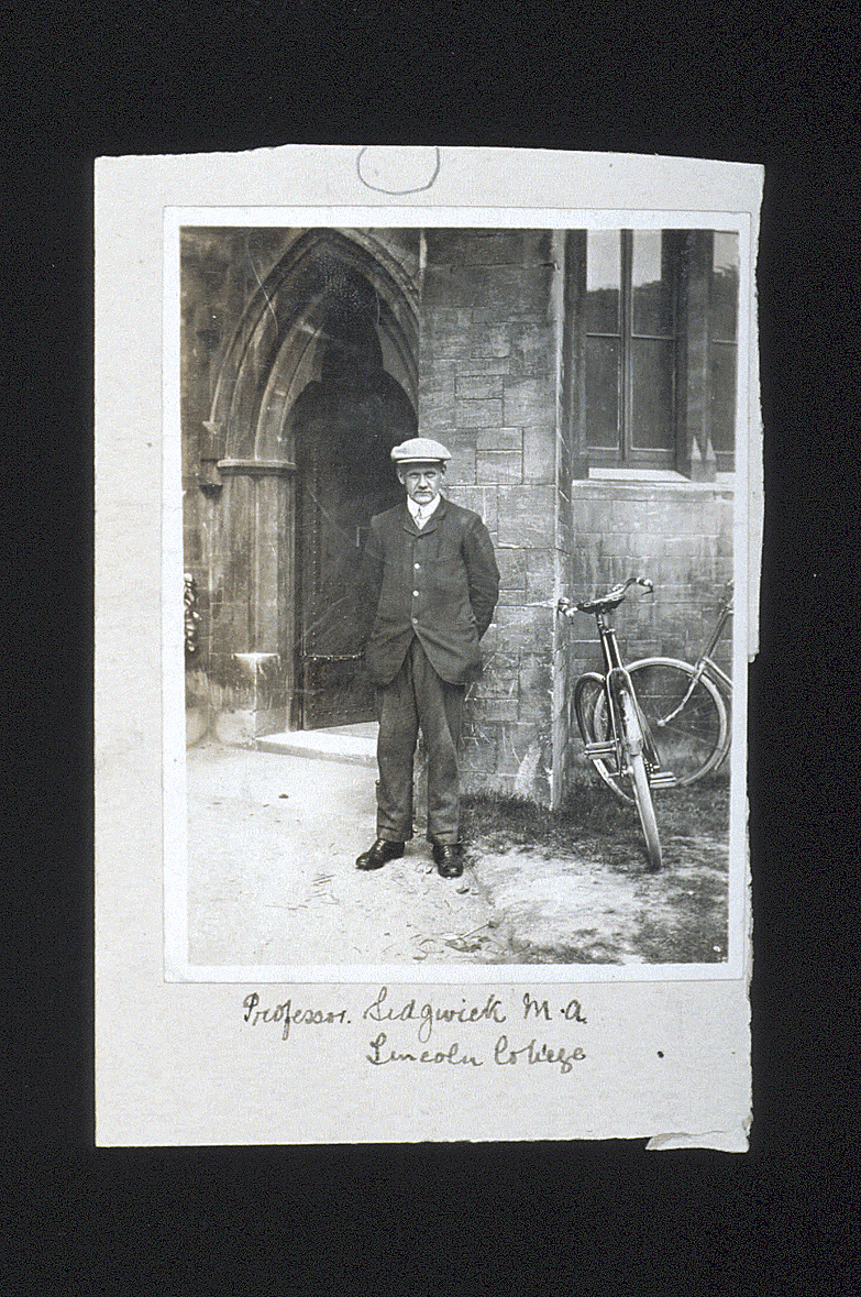 preview image for Photograph (Gelatine Print) of N. V. Sidgwick Outside the Entrance to the Old Chemistry Department, Oxford, c.1910