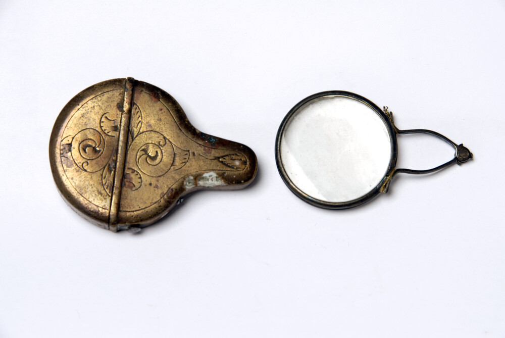 preview image for Folding Eye-Glasses and case, c.1800