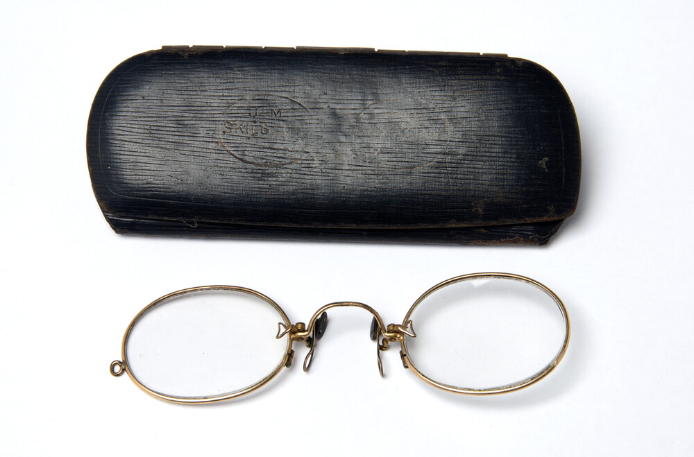 preview image for Pince-Nez and Case, by J.M. Skilbeck, Stockton, c. 1910