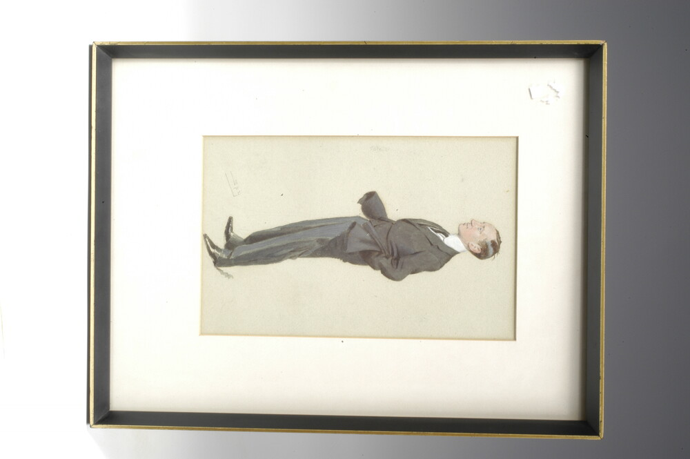 preview image for Framed 'Spy' Portrait of Guglielmo Marconi, by Leslie Ward, English, c.1906