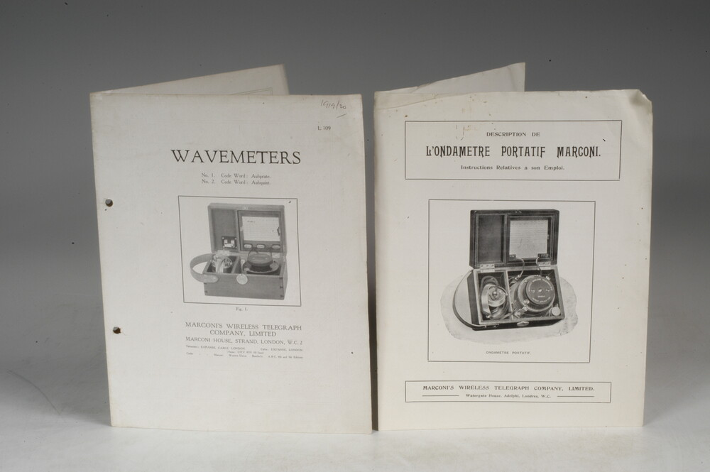 preview image for Instruction Booklets For Marconi Wavemeters, by Sanders Phillips & Company, London, c. 1919