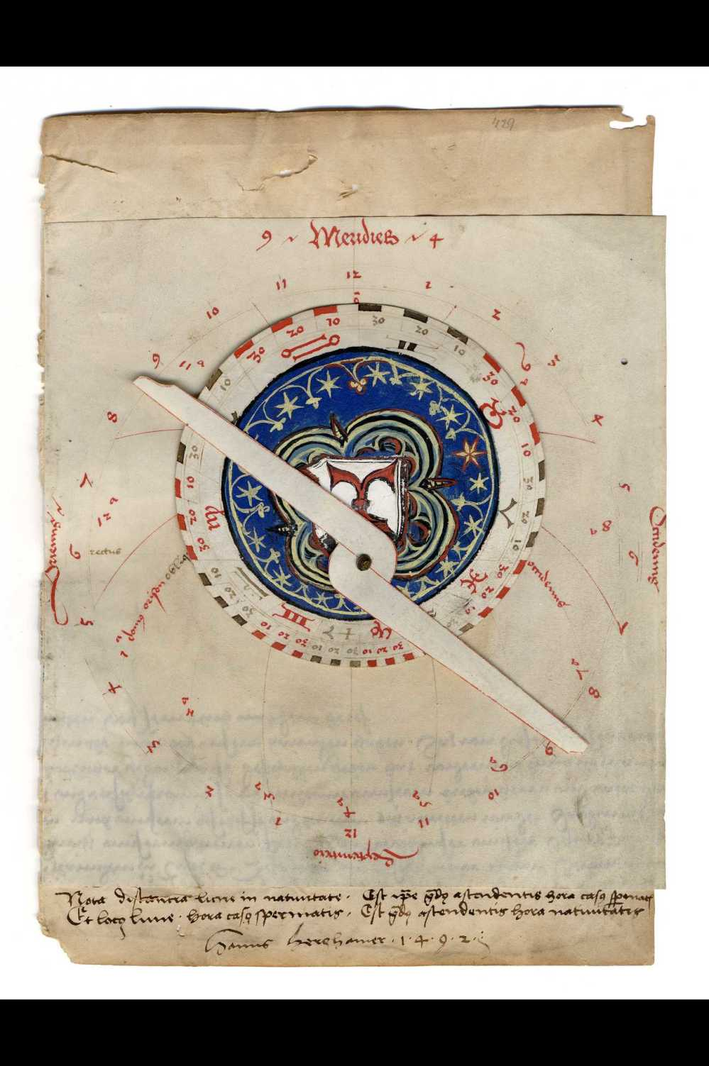 preview image for Manuscript Astrolabe, by Hanns Herghamer, German, 1492