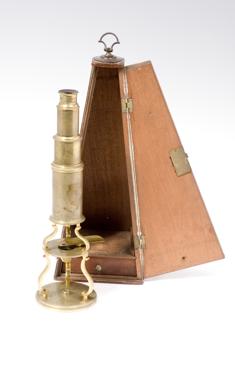 preview image for Brass Culpeper Type Microscope with Accessories and Case