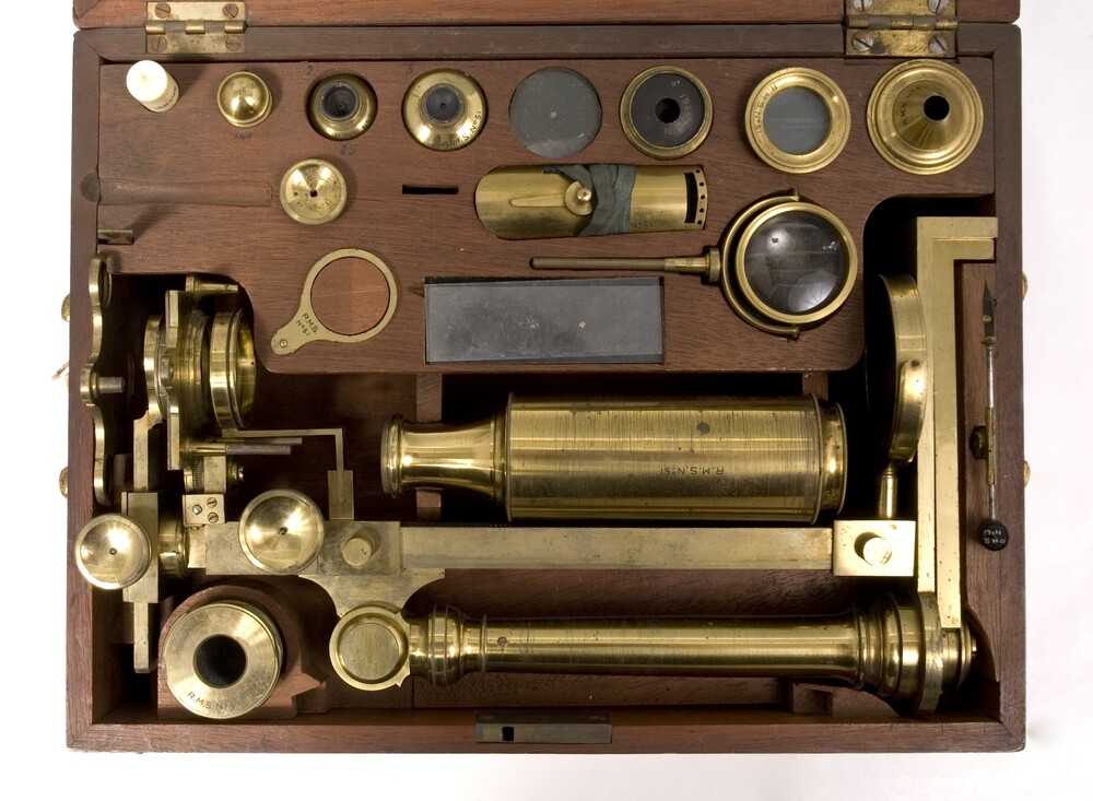 preview image for Simple and Compound Microscope with Case and Accessories, by W and S Jones