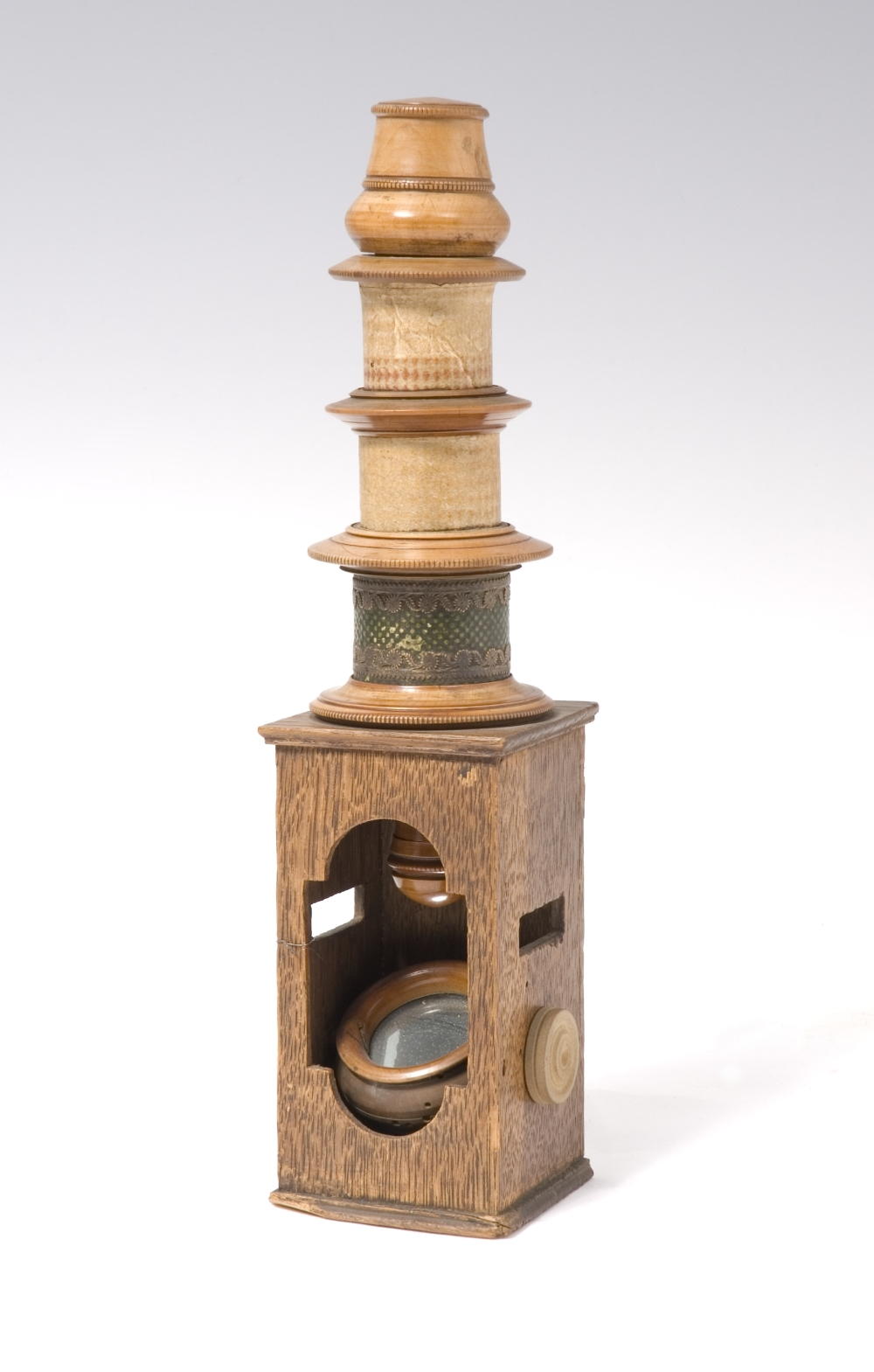 preview image for Nuremberg Type Wooden Drum Microscope , Early 19th Century