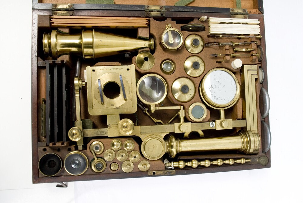 preview image for Compound Microscope with Accessories and Case, by Adams, London, c. 1790