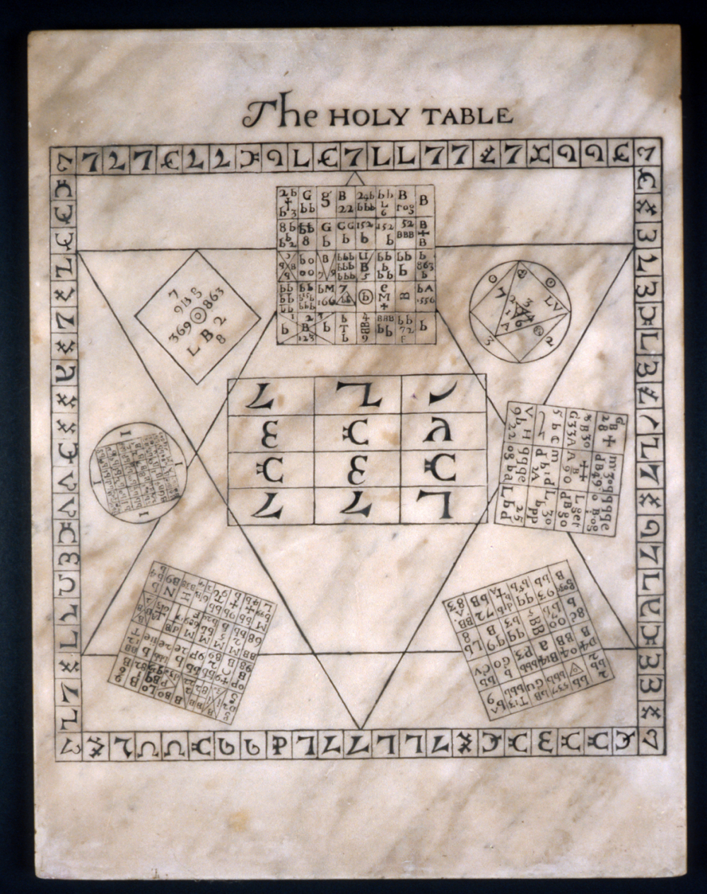 preview image for Marble Copy of John Dee's Holy Table of 1582, English, Mid 17th Century