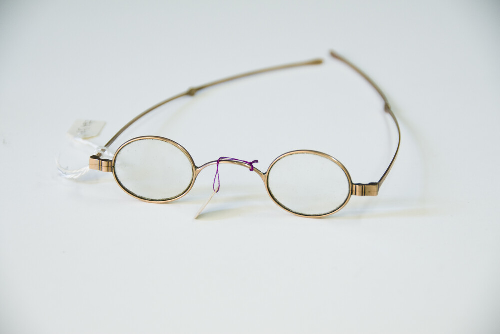 preview image for Metal Spectacles in Case, English?, 19th Century