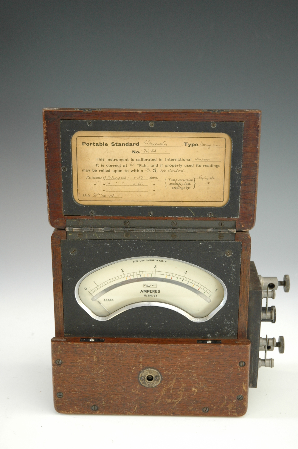 preview image for Portable Moving Iron Ammeter, by Elliott Brothers, 1933