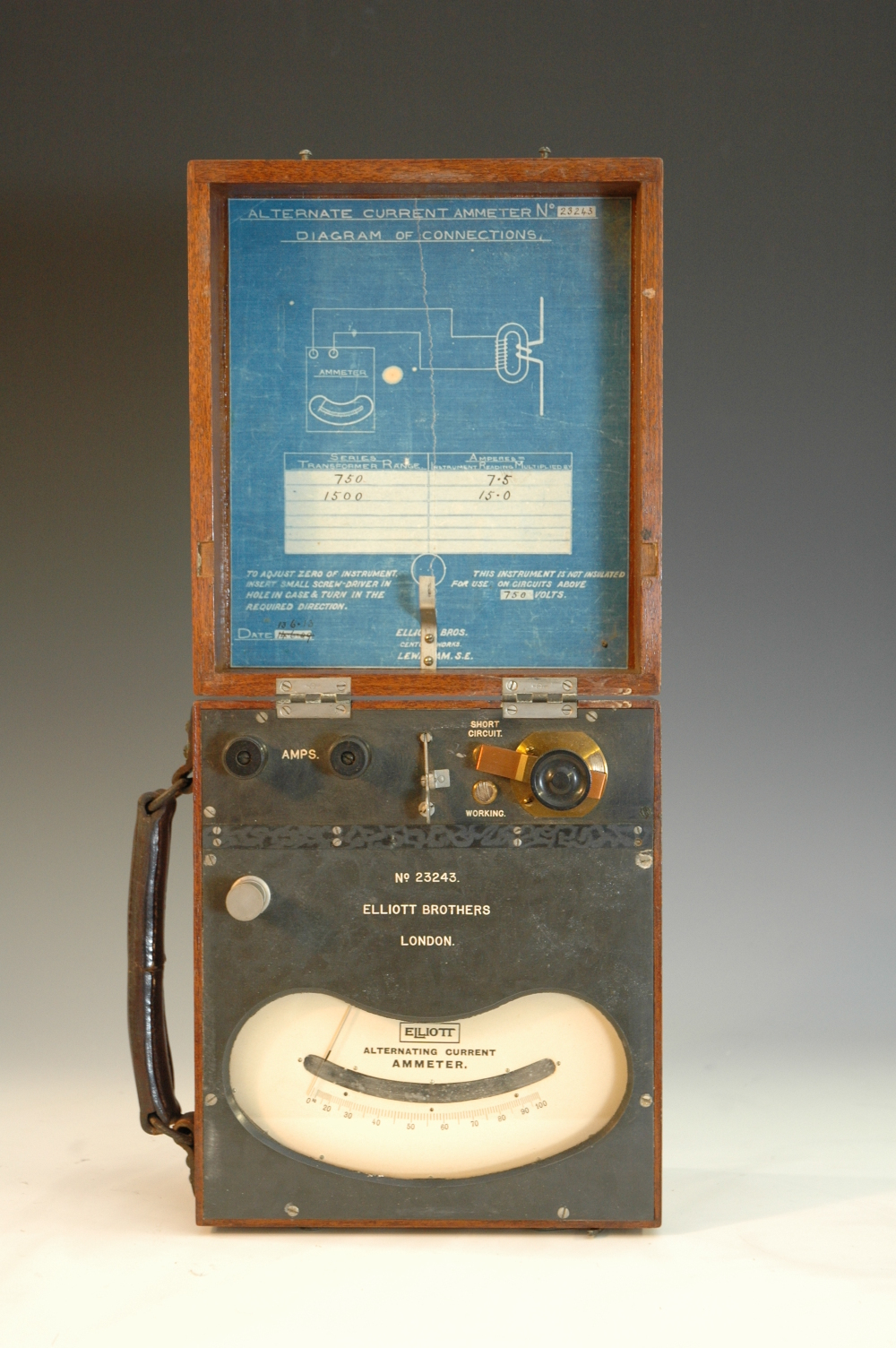 preview image for AC Ammeter, by Elliott Brothers, London, 1909