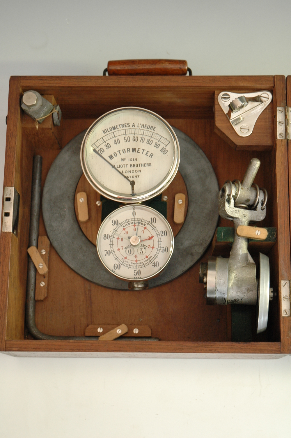 preview image for Speedometer and Odometer,with accessories  by Elliott Brothers, c.1905