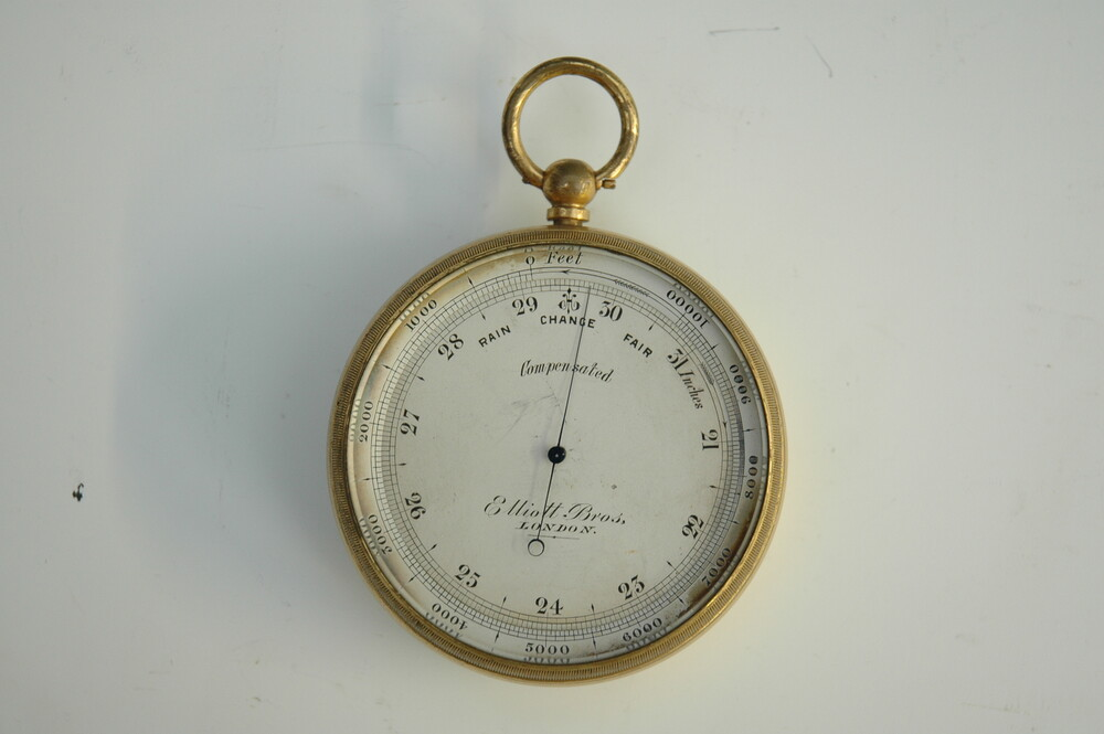preview image for Pocket Aneroid Mountain Barometer, by Elliott Brothers, London, 19th Century