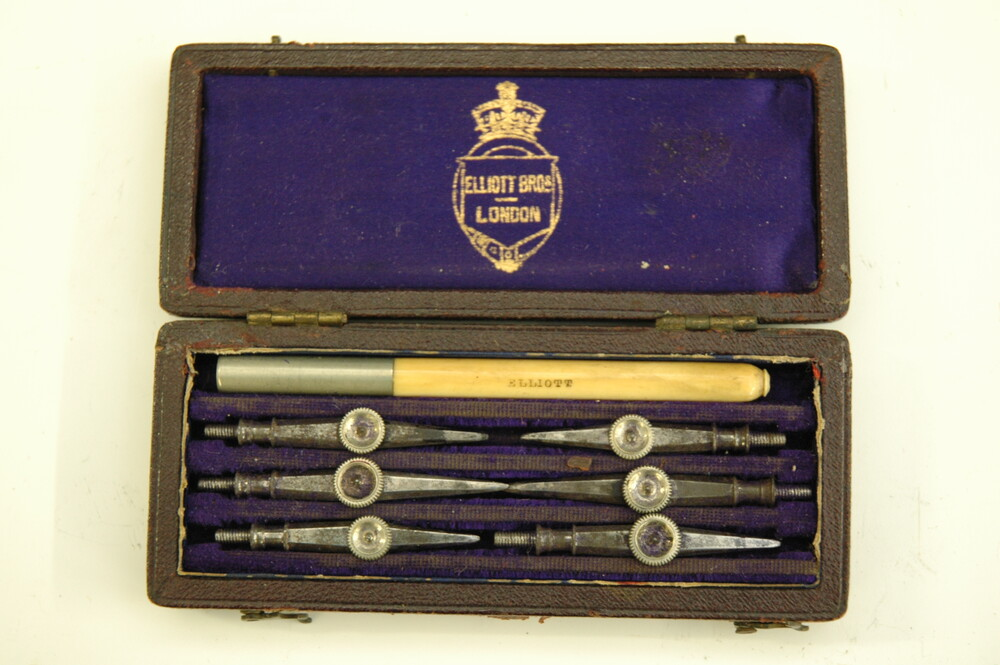 preview image for Set of Drawing Pens in Box, by Elliott Brothers, London, 19th Century