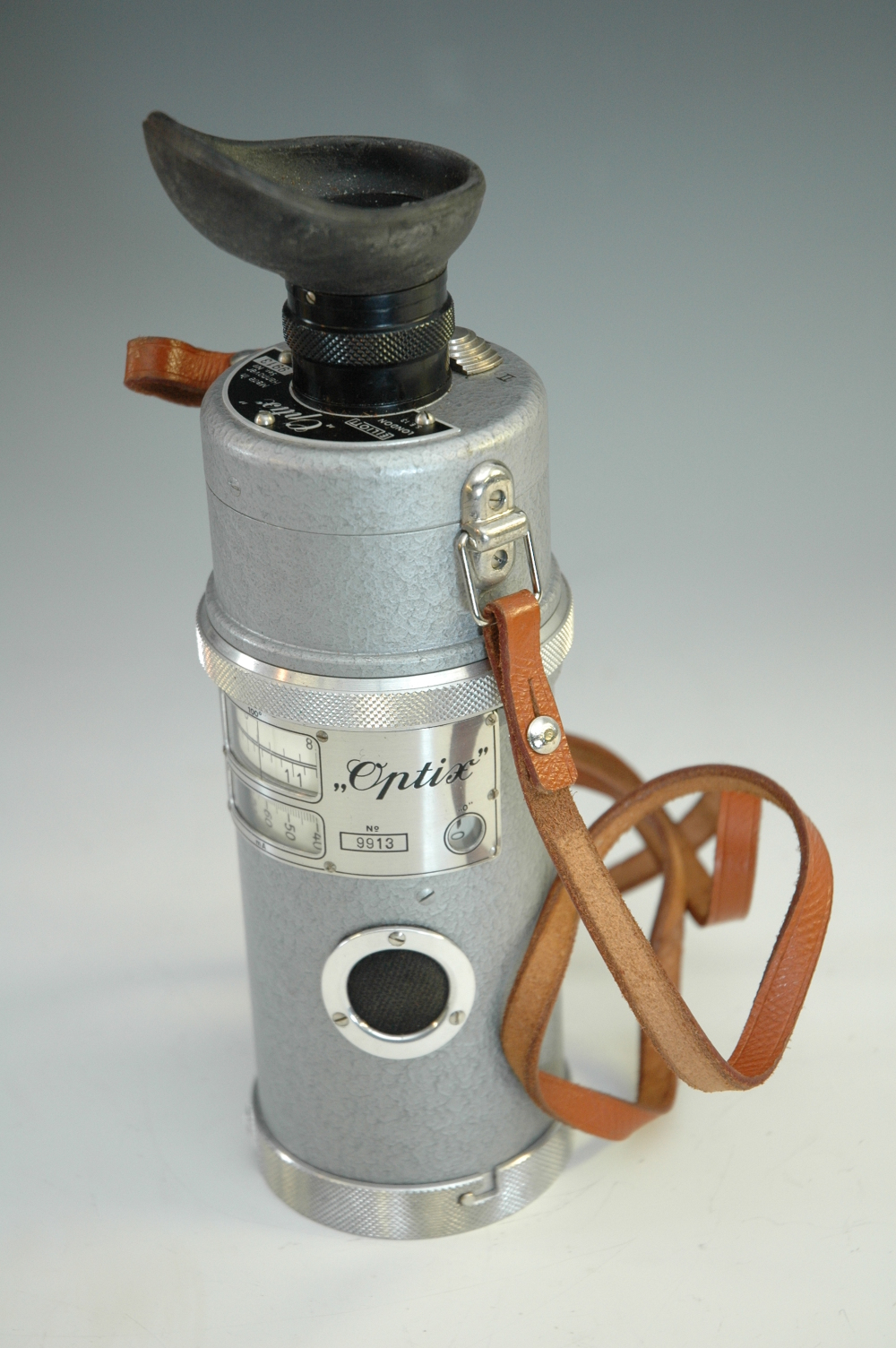 preview image for Optix Optical Pyrometer with case and accessories, by Elliott Brothers, London, Made in Hanover, c.1960