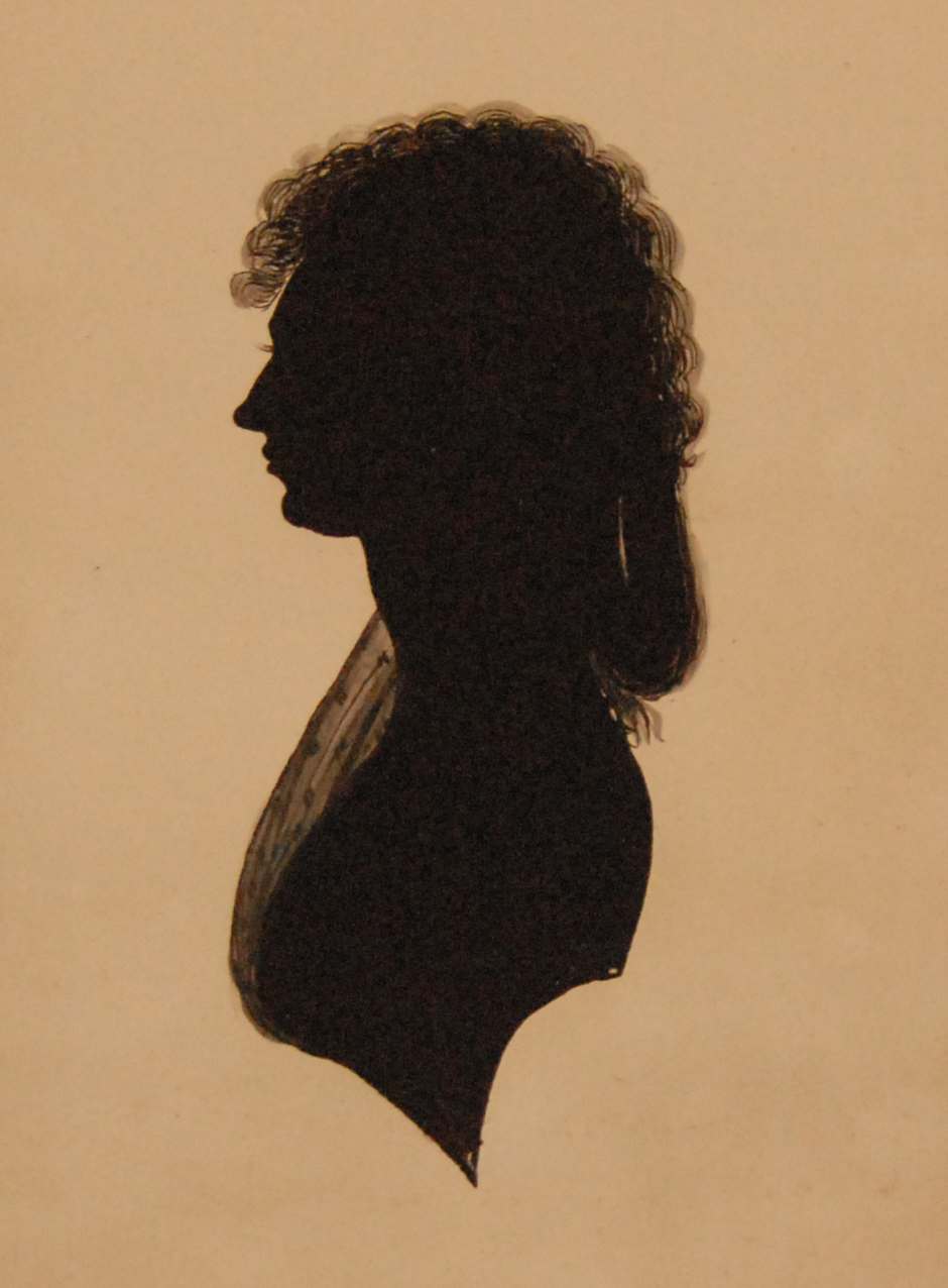 preview image for Painted Silhouette of Caroline Herschel, c.1770