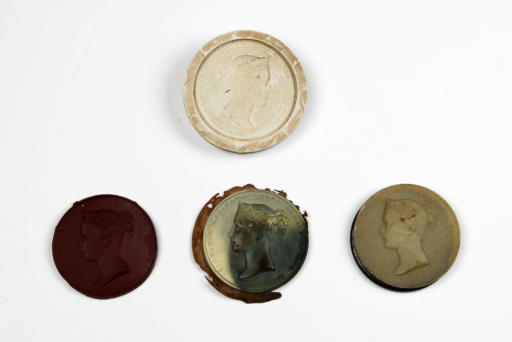 preview image for Moulds and Casts Depicting Newton and Queen Victoria, by W. Wyon