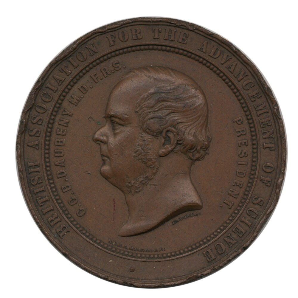 preview image for Portrait Medal of Charles Daubeny, for the BAAS, English, 1856