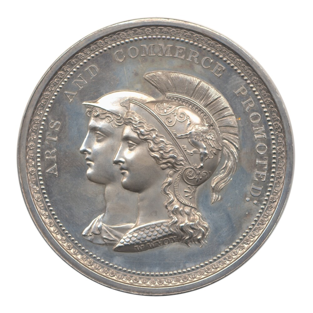 preview image for Society of Arts Silver Medal, by William Wyon at the Royal Mint, London, 1832