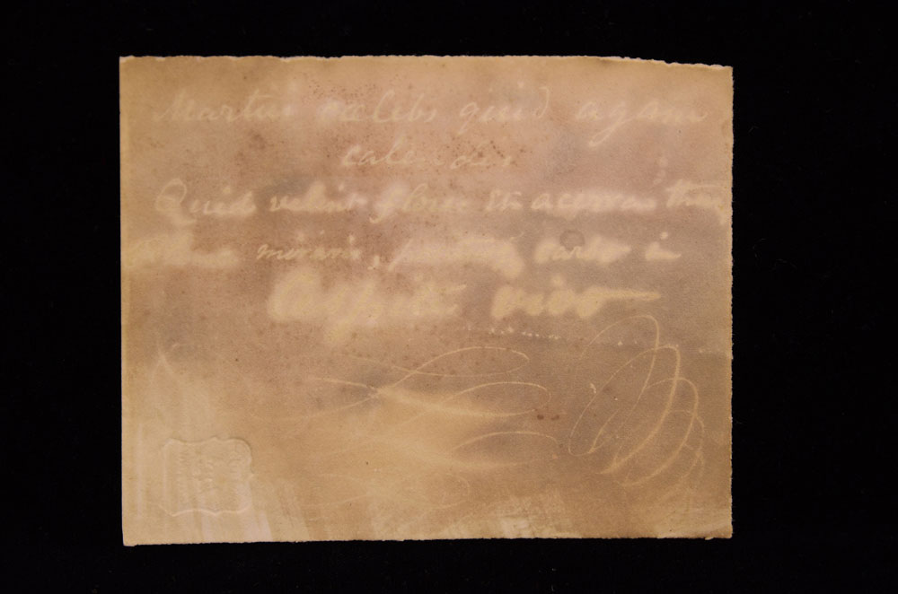 preview image for Invisible Writing Experiment from the Photographic Experiments of Sir John Herschel, 1839