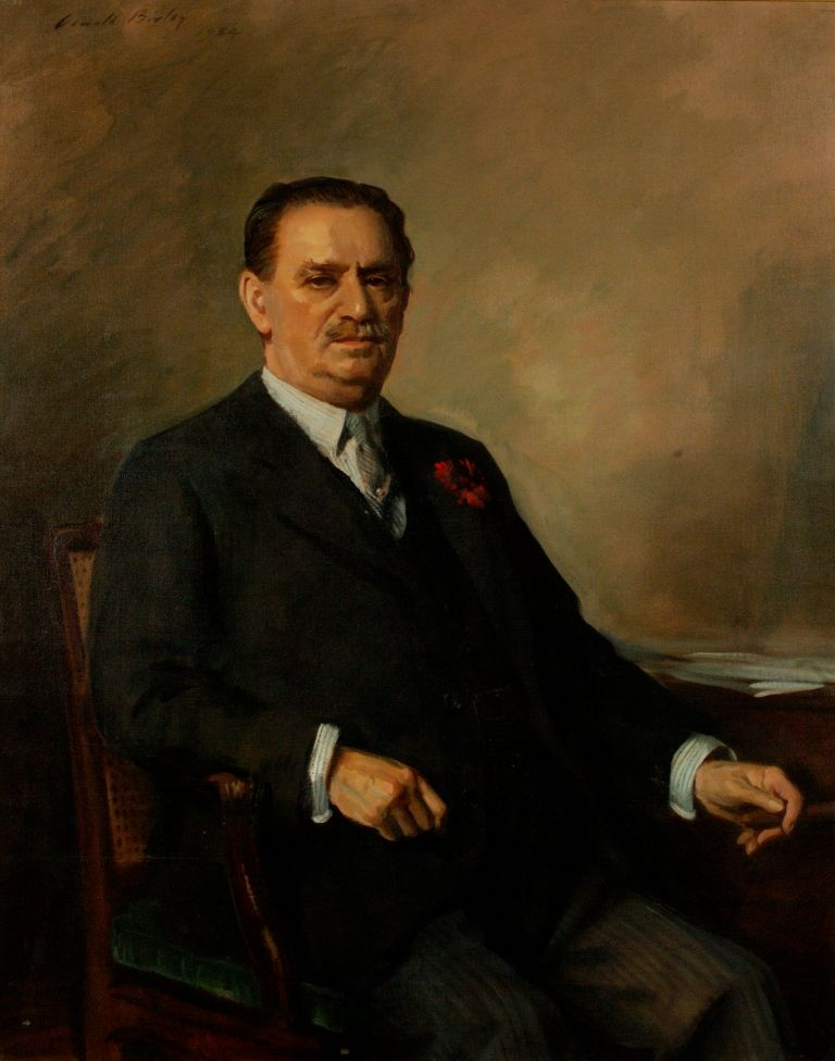 preview image for Painting (Oil on Canvas, Framed) Lord Hirst of Witton, by Oswald Birley, English, 1934