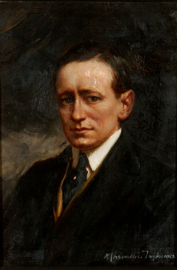 preview image for Painting (Oil on Canvas, Framed) of Guglielmo Marconi, by Albert Chevallier Tayler, London, 1912