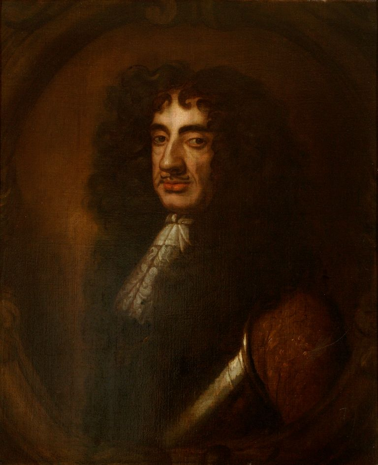 preview image for Painting (Oil on Canvas, Framed) of King Charles II, Artist Unknown, Probably 17th Century