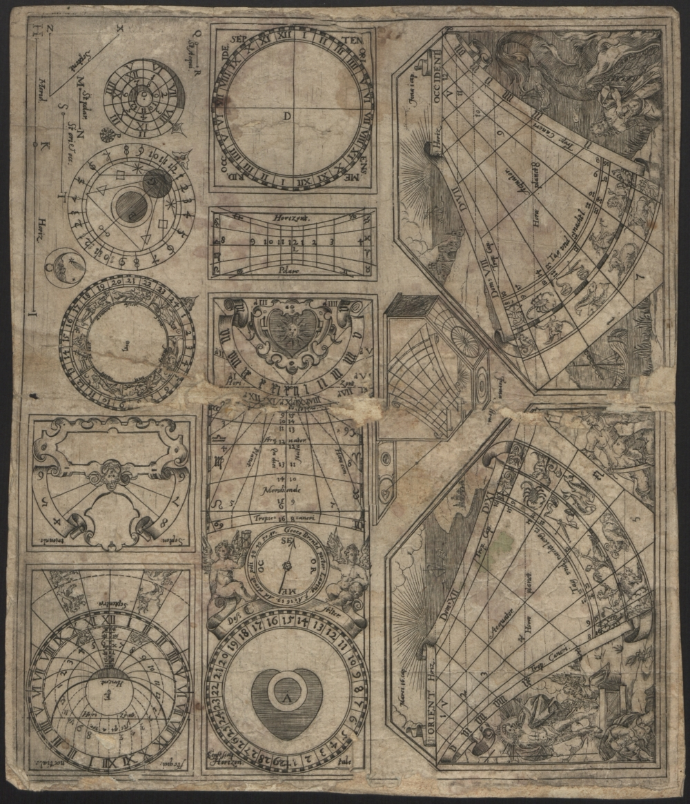 preview image for Print (Engraving) Portable sundial, by Georg Brentel, Lauingen, Germany, 1619