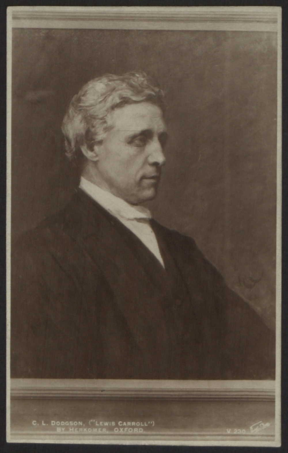 preview image for Print, Postcard of C.L. Dodgson (Lewis Carroll), Photograph of a Painting, by Herkomer, Oxford, Published by Walter Scott, Bradford, 20th Century