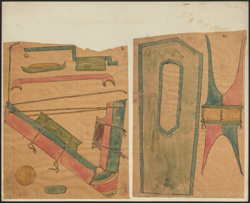 preview image for Drawings. Coloured, on tracing paper depicting (primarily) surgical instruments, 20th Century(?)