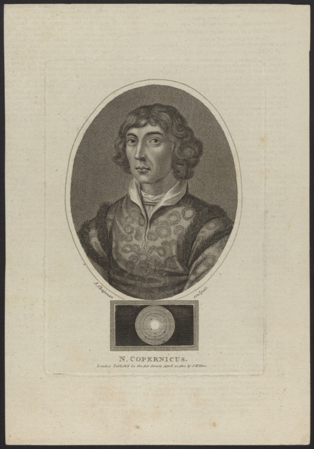 preview image for Print (Engraving) of Nicolaus Copernicus by J. Chapman, published by J. Wilkes, London, 1802.