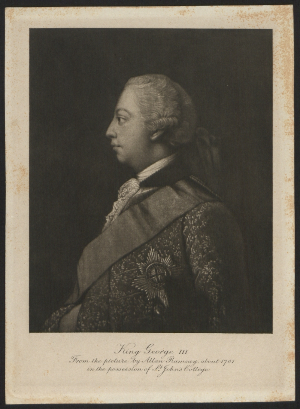 preview image for Print (Mezzotint) of King George III by unknown artist after Allan Ramsay, 18th-19th Century