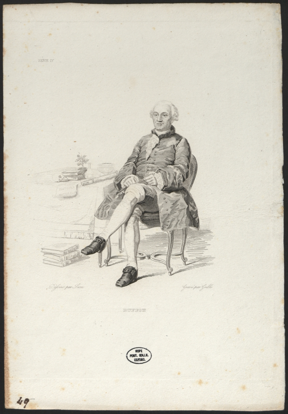 preview image for Print (Engraving) Comte de Buffon, by Lion, painted by Gille, 19th Century