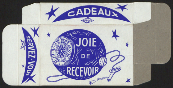 preview image for Print (Ephemera) Cardboard packaging box depicting astrolabe, France, 1981