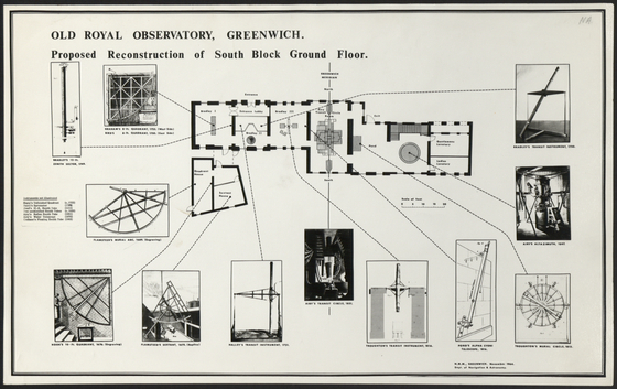 preview image for Print (Photographic paper) Plan of proposed reconstruction work at Old Royal Observatory Greenwich, Greenwich, 1964