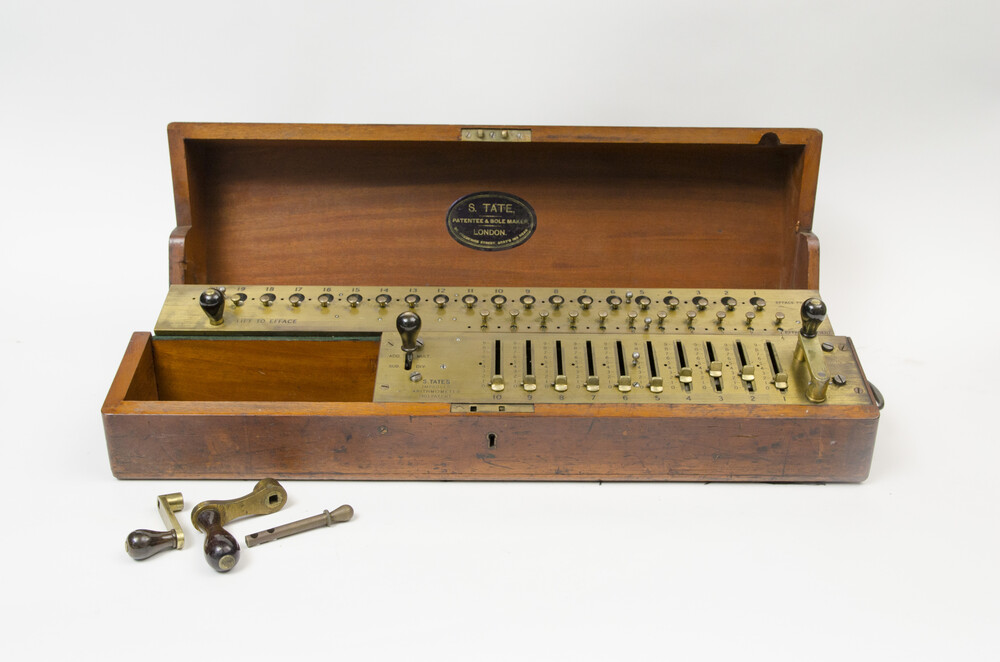 preview image for Arithmometer Calculator,  by S. Tate, London , c. 1910